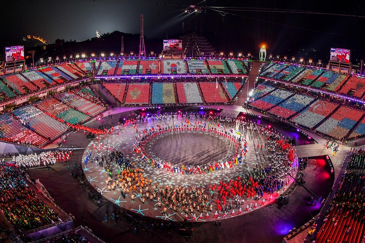 La cerimonia di chiusura di PyeongChang 2018