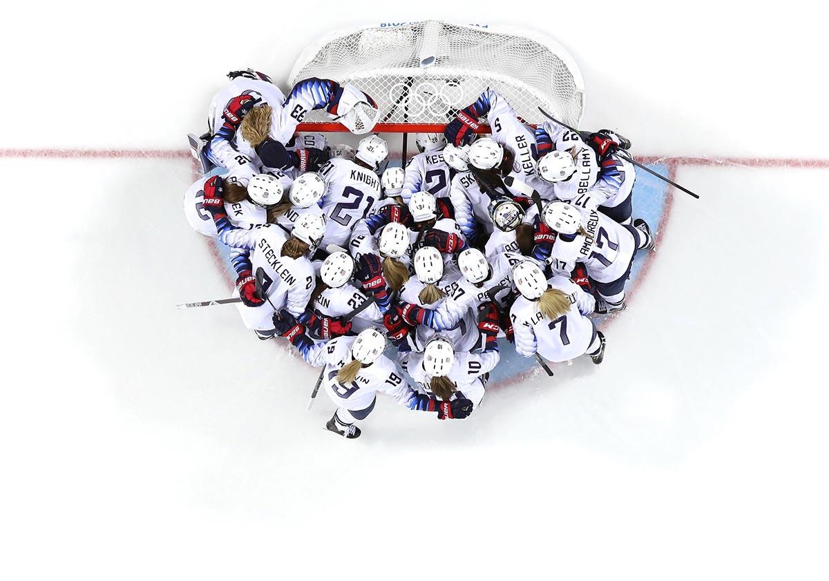 La squadra olimpica statunitense di hockey su ghiaccio a PyeongChang 2018