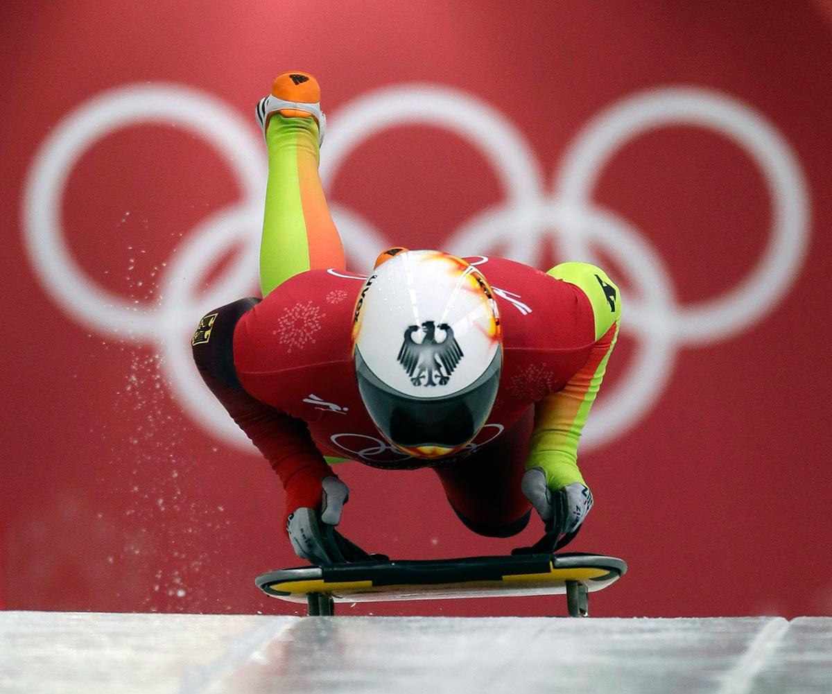 Alexander Gassner nello skeleton a PyeongChang 2018