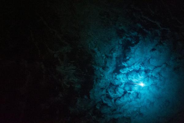 Un rientro atmosferico visto dalla ISS