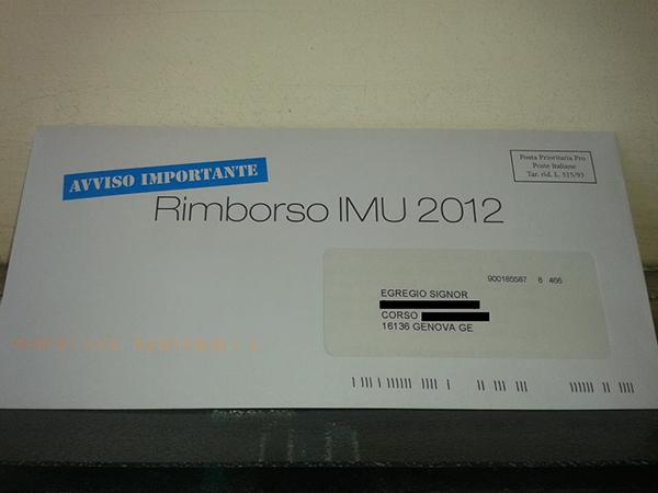 La lettera del rimborso dell'IMU