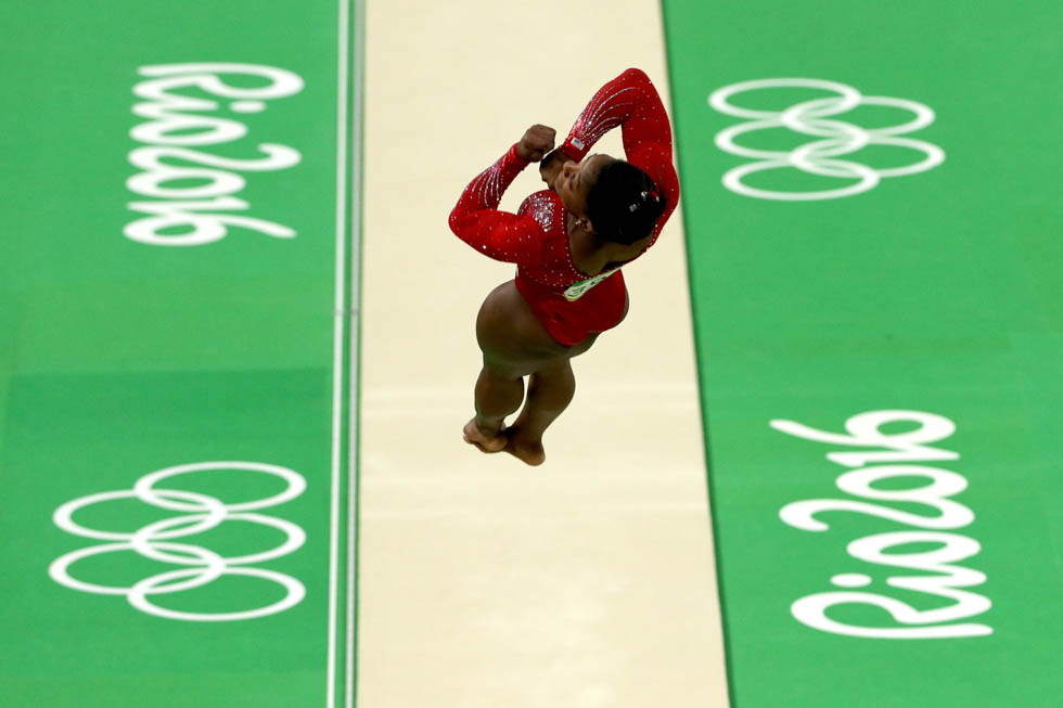 Simone Biles ai Giochi Olimpici di Rio 2016