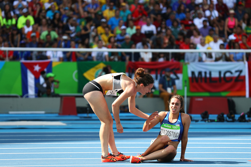 Nikki Hamblin e Abbey D'Agostino a Rio 2016