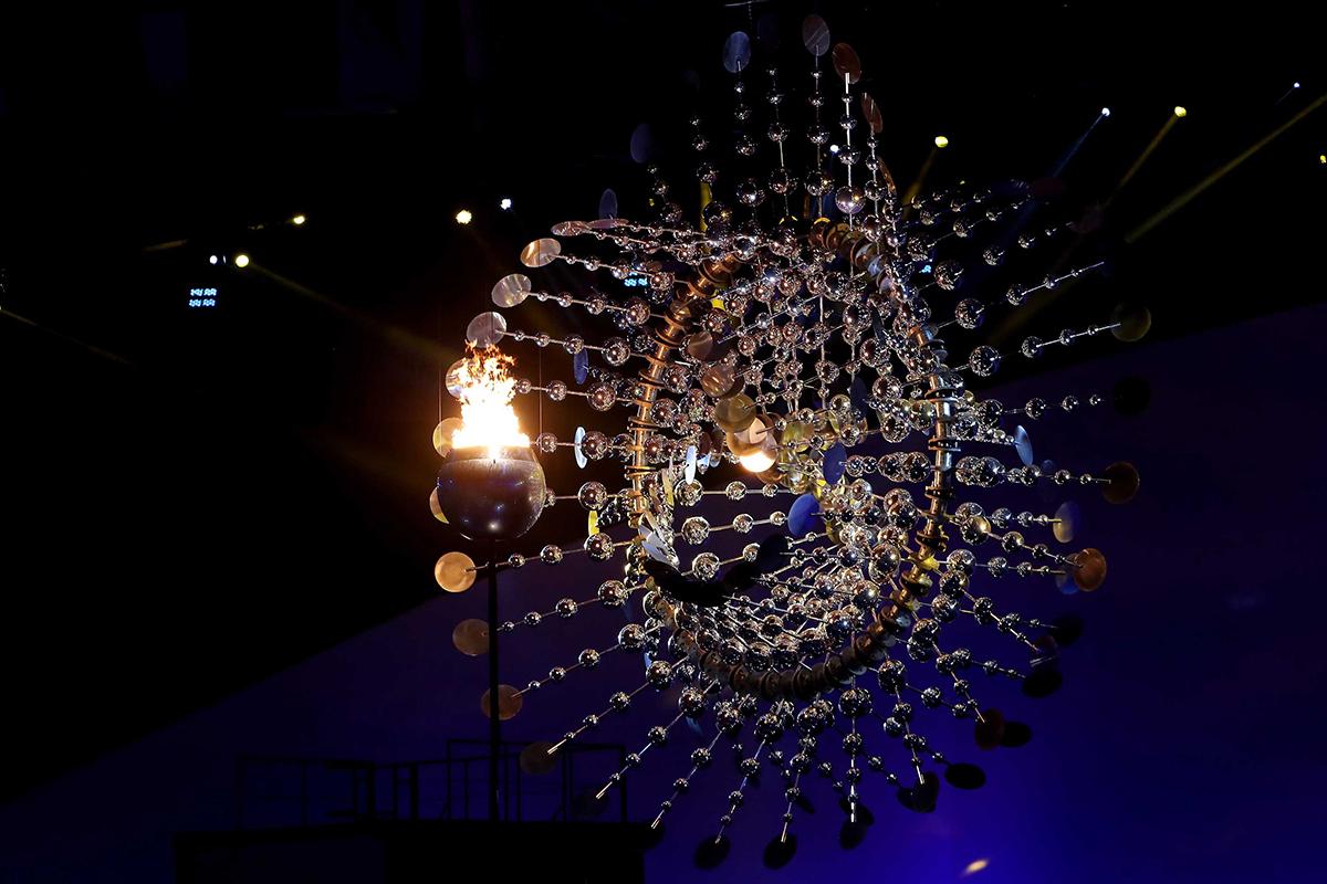 La fiamma dei Giochi Olimpici di Rio 2016