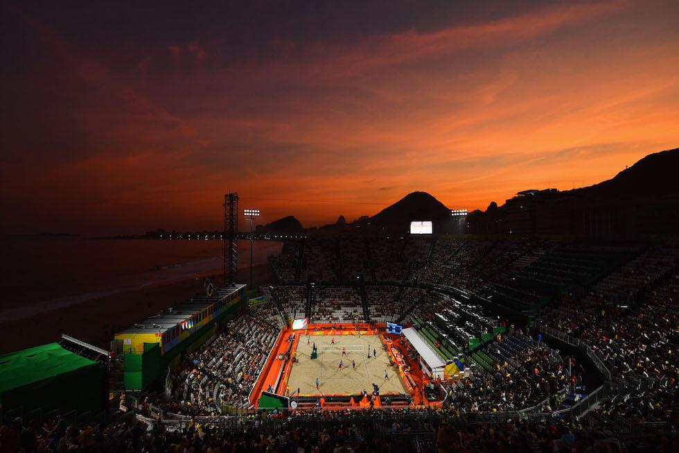 La Beach Volley Arena a Copacabana ai Giochi Olimpici di Rio 2016