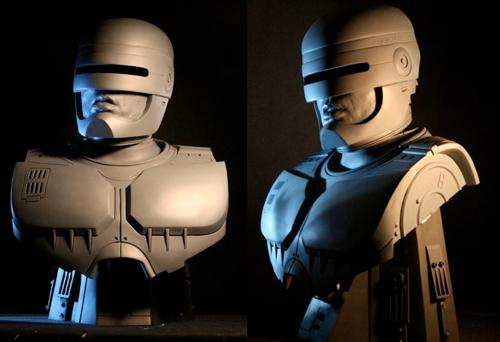 Busti della statua di RoboCop