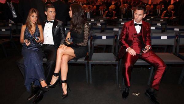 Ronaldo e Messi alla cerimonia per il Pallone d'Oro 2013