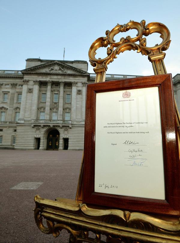 L'annuncio della nascita del Royal Baby