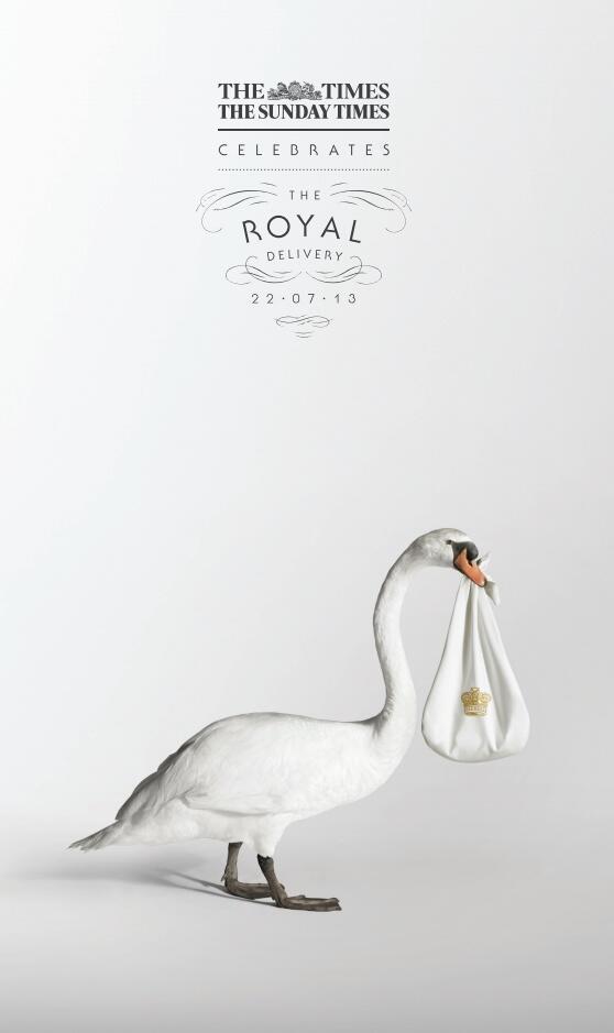 La pagina del Times per il Royal Baby