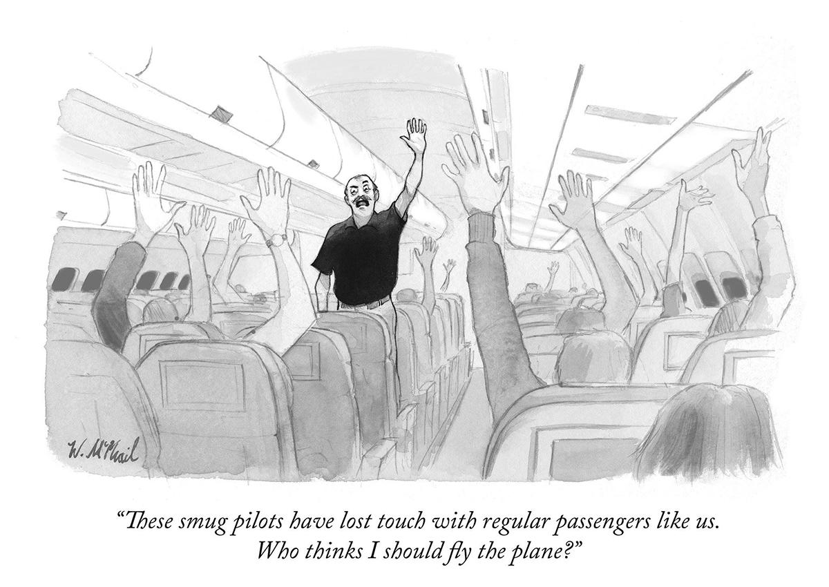 Vignetta satirica sul populismo