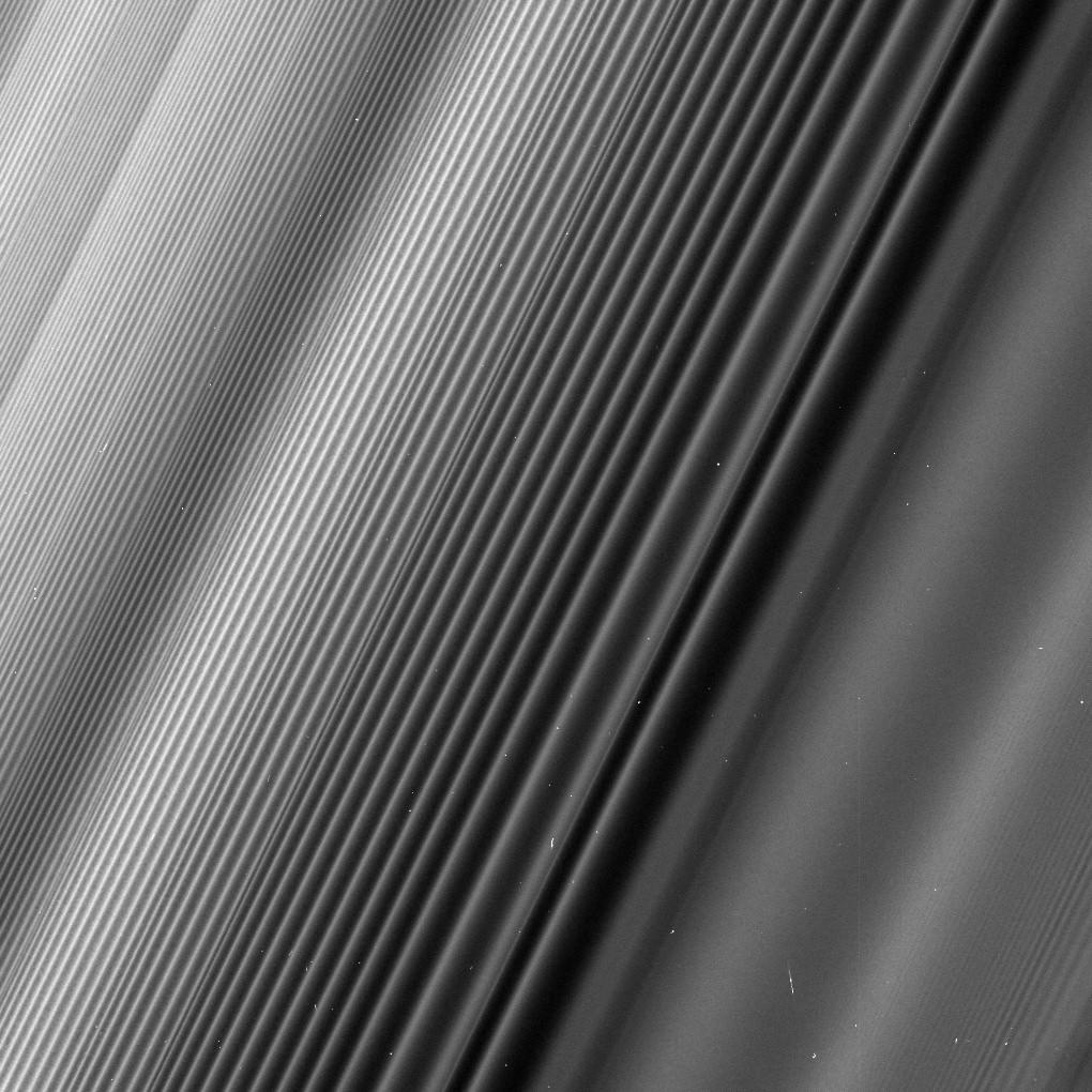 Le increscapture sugli anelli di Saturno prodotte dal satellite Giano