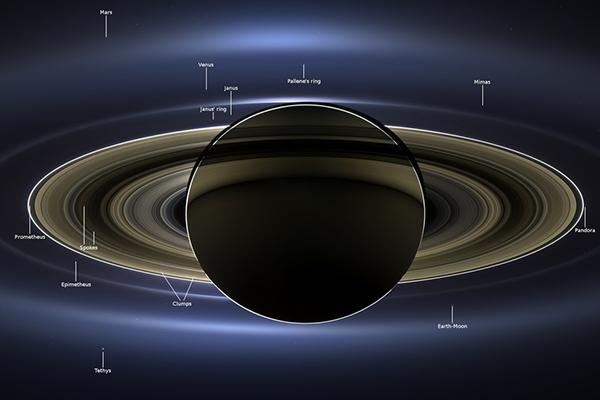 Saturno ripreso dalla sonda Cassini
