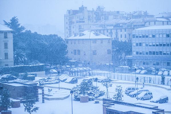 La neve a Savona nel 2013