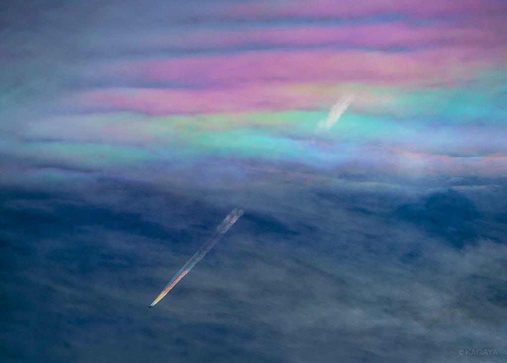 Scie di condensazione arcobaleno