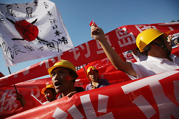 Nazionalisti cinesi rivendiacano le isole Senkaku