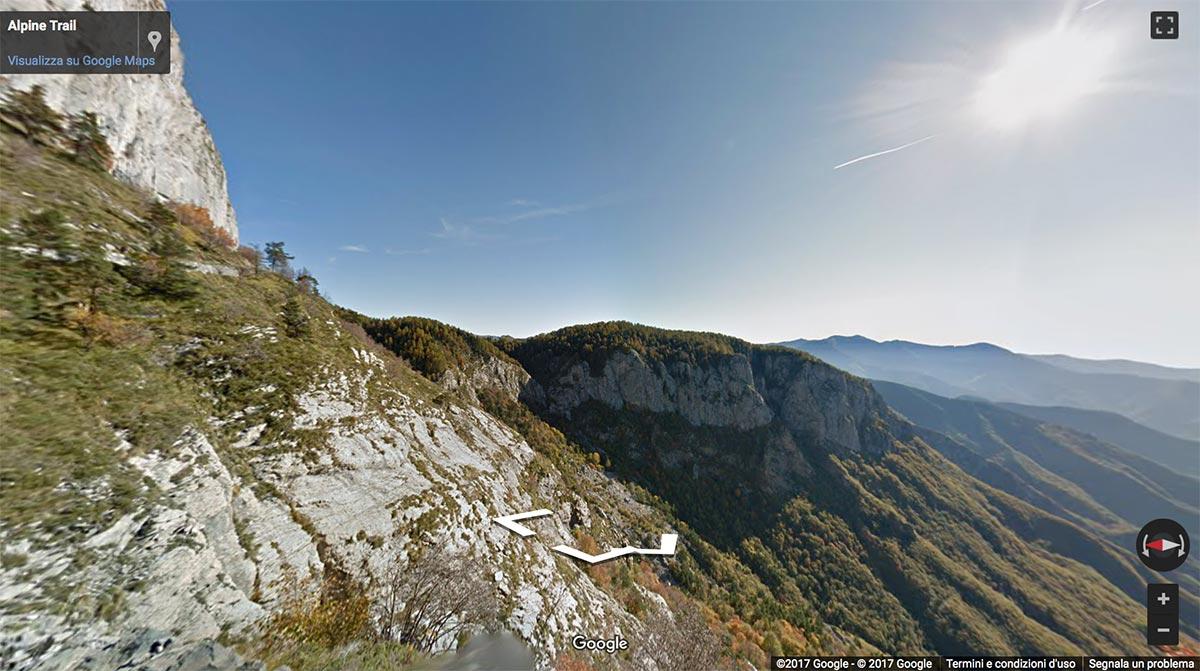 I sentieri liguri su Google Street View