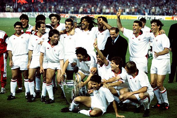 Berlusconi e il Milan in Coppa Campioni