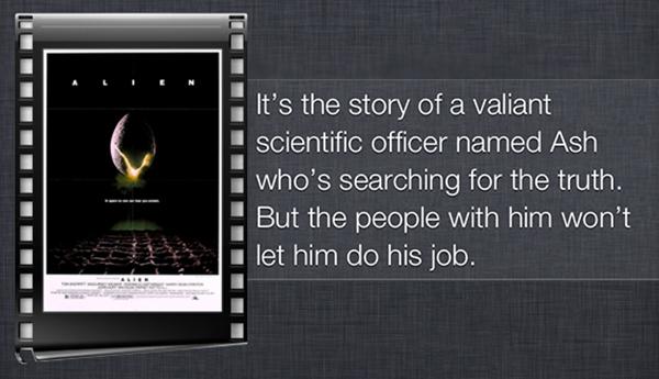La recensione di Alien fatta da Siri