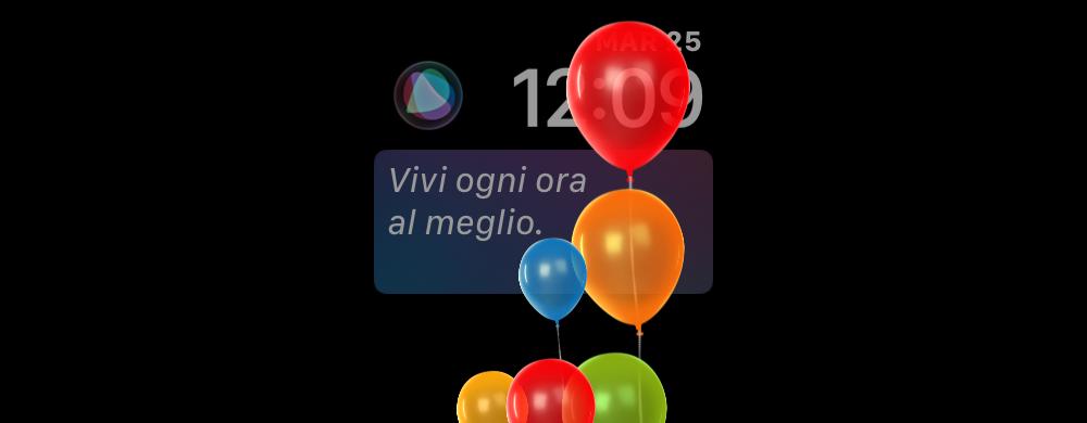 Siri augura buon compleanno su Apple Watch