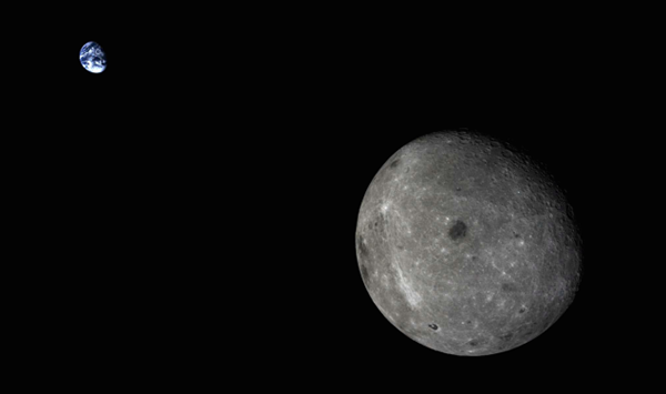 Il sistema Terra-Luna ripreso dalla sonda Chang'e 5