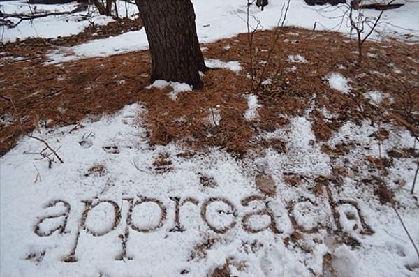Scrivere una storia nelle neve