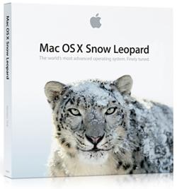 La confezione di Mac OS X 10.6 Snow Leopard