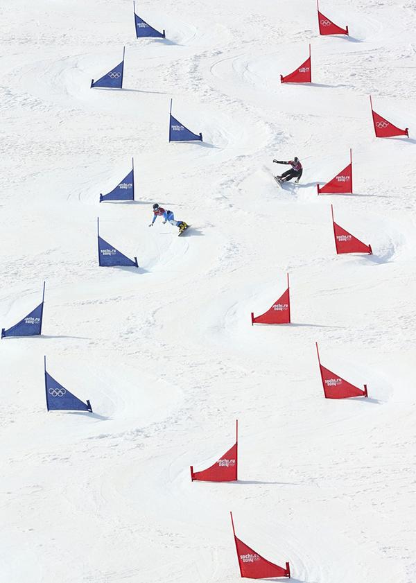 Lo slalom parallelo in snowboard a Sochi 2014