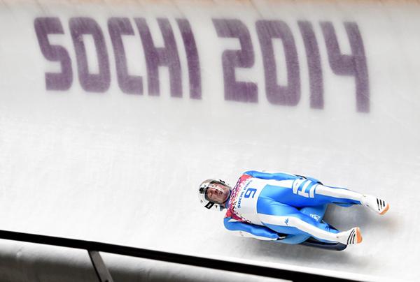 Armin Zoeggeler nello slittino a Sochi 2014