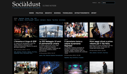 Screenshot di Socialdust
