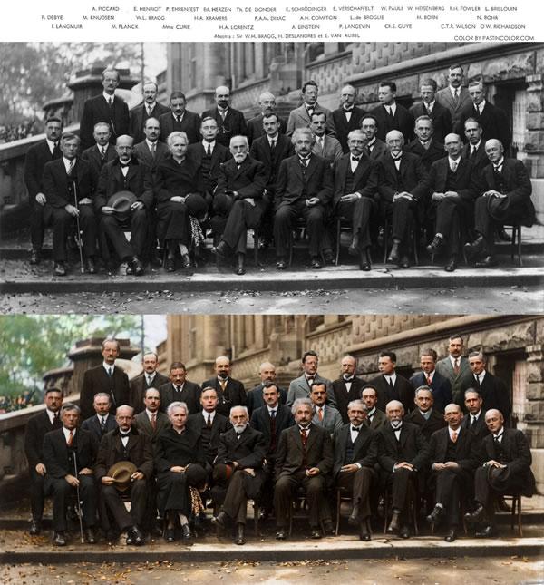 La foto della Conferenza di Solvay a colori