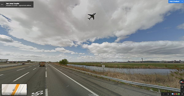 L'ultimo volo dello Space Shuttle Enterprise su Google Street View