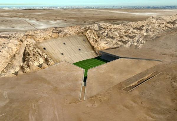Lo stadio sotto il deserto dell'Al Ain FC