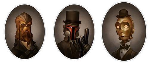 Chewbacca, Boba Fett e C-3PO rivisti al tempo della Guerra civile americana