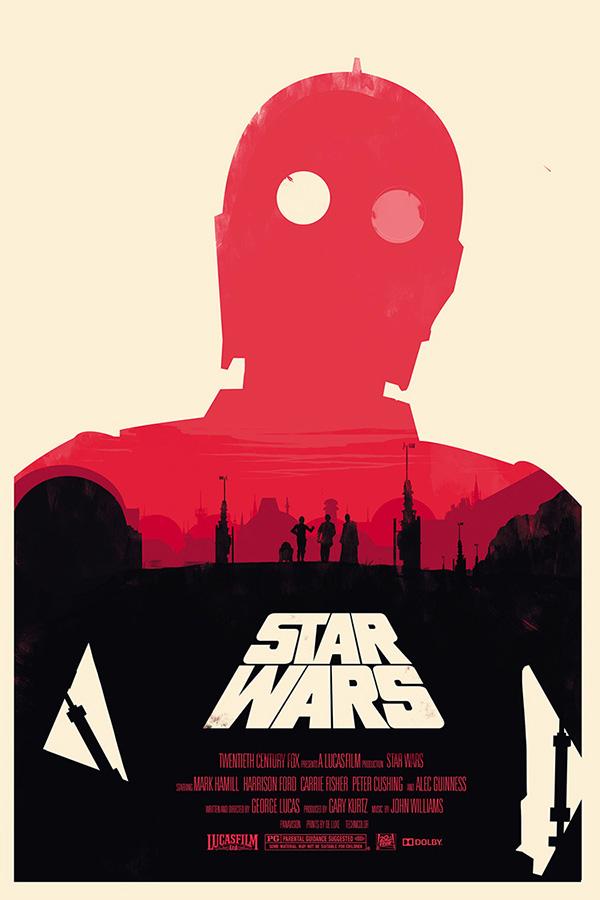 Un poster di Guerre Stellari
