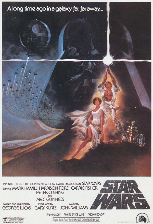 Un poster di Star Wars del 1977