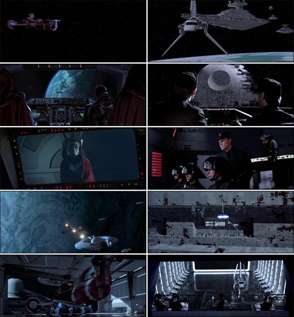 Scene tratti dalla saga di Guerre Stellari