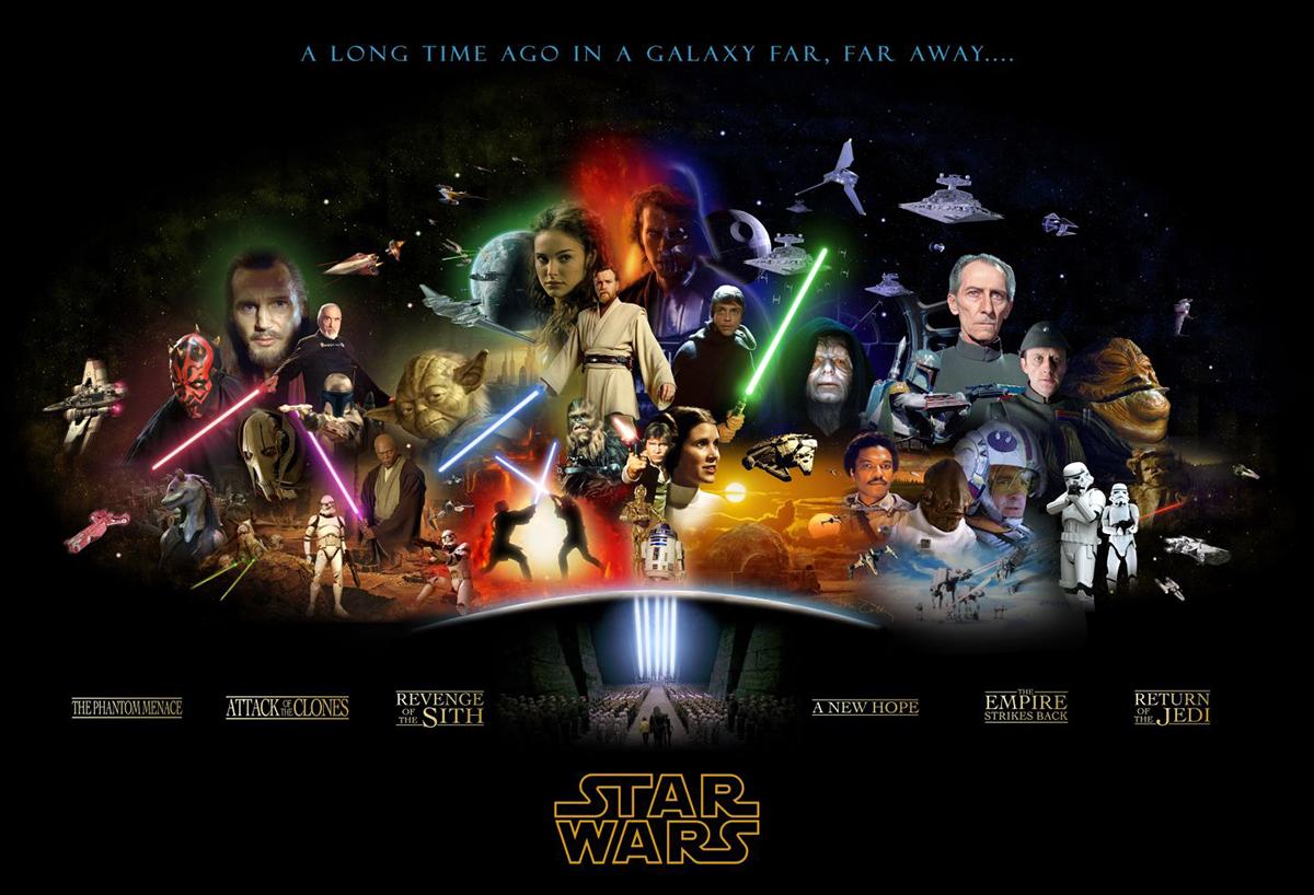 La londina delle due trilogie di Guerre Stellari