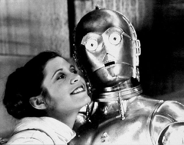 Carrie Fisher e C-3PO