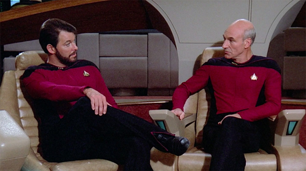 Picard e Riker in Star Trek TNG
