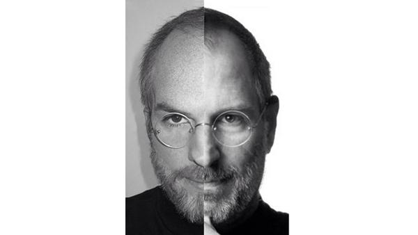 Ashton Kutcher truccato da Steve Jobs