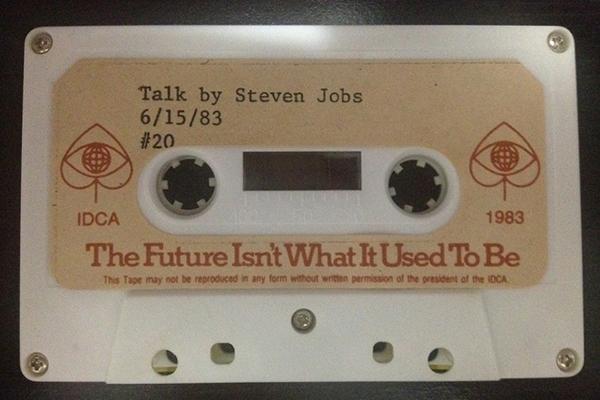 La cassetta con il discorso di Steve Jobs