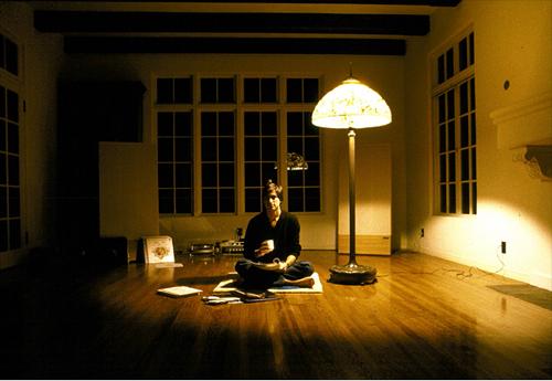 Steve Jobs nel suo soggiorno a Los Gatos, California