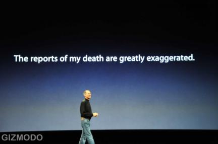 Steve Jobs durante un keynote