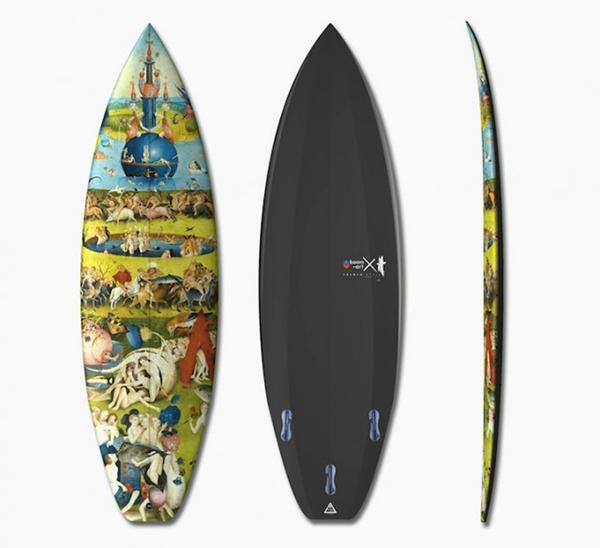 Surf con arte del XV secolo