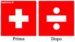 La nuova bandiera della Svizzera