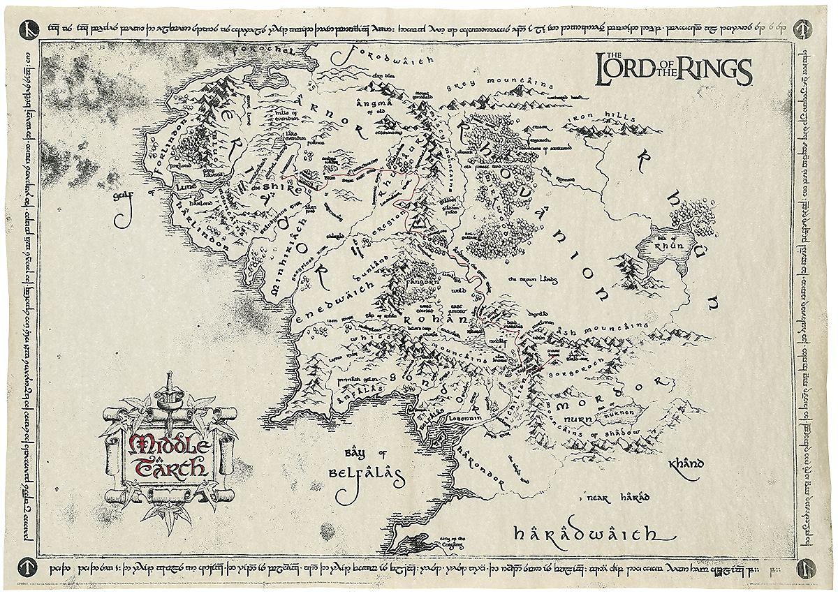 Mappa della Terra di Mezzo