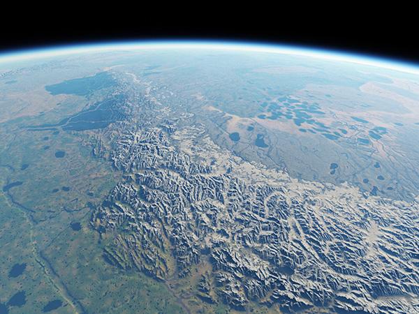 La Terra di Mezzo vista dallo spazio