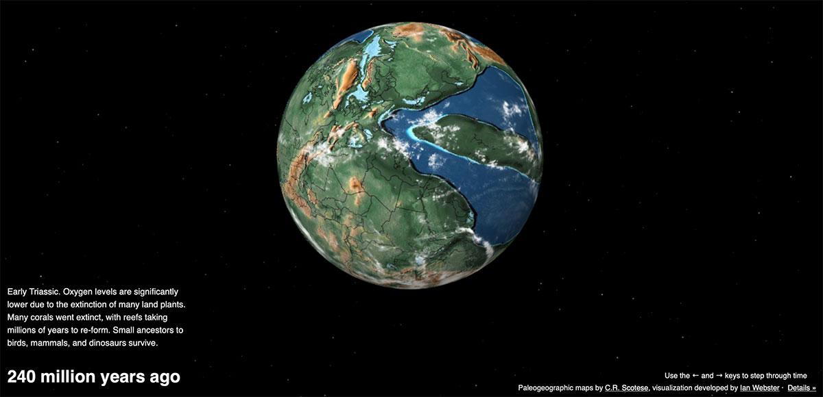 La mappa della Terra nel triassico