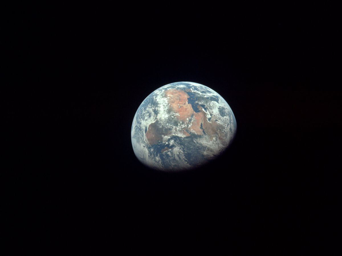La Terra fotografata dall'Apollo 11