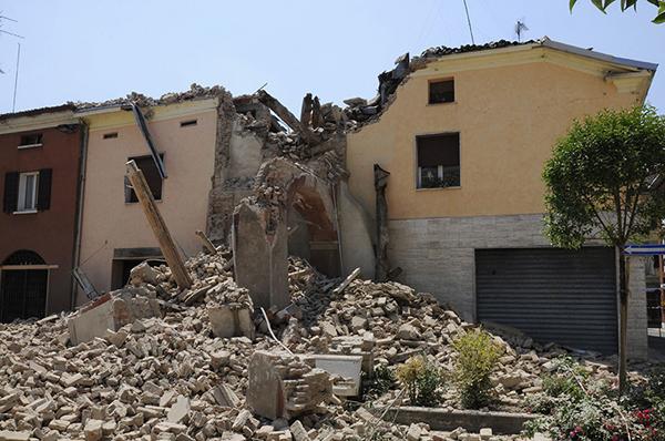 I danni del terremoto a San Felice sul Panaro